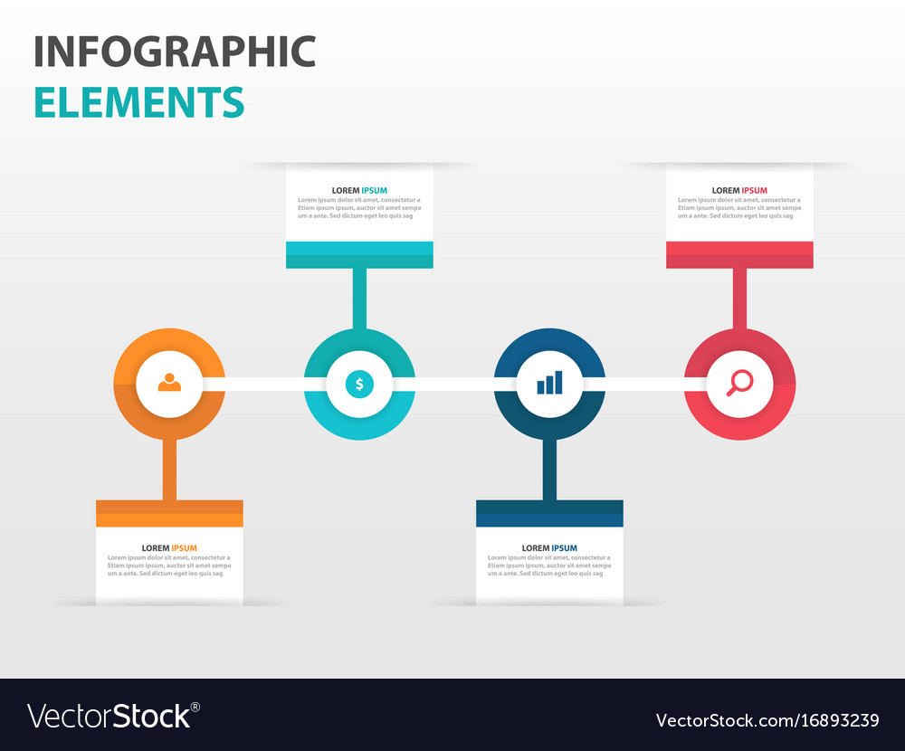 Colorful circle business timeline infographics vector image