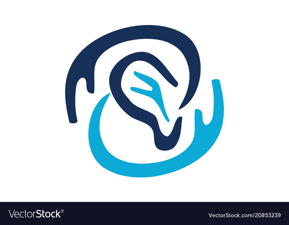 Hearing Aid Center Audiology Royalty Free Vector Image