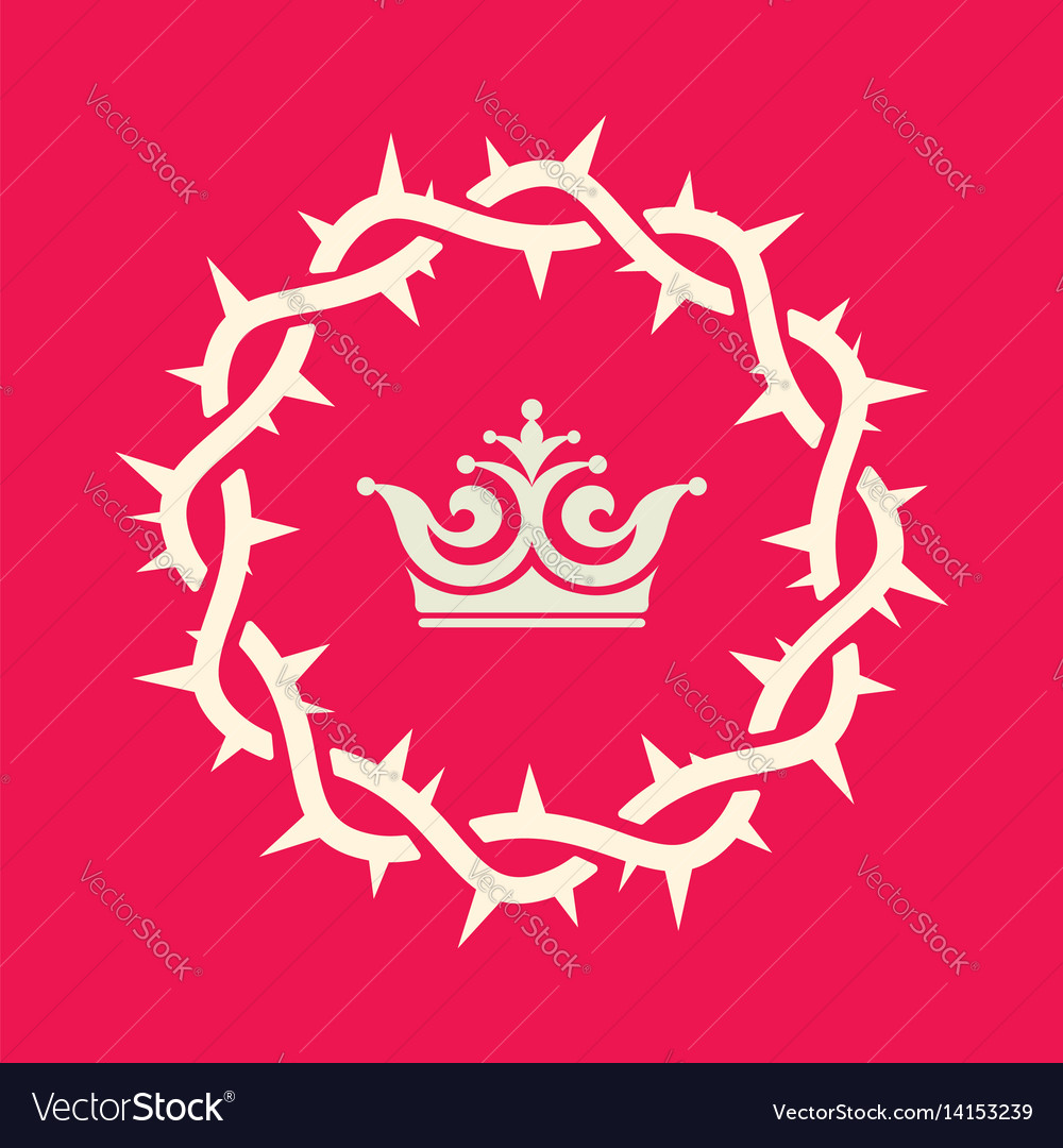 The crown of thorns of jesus christ Royalty Free Vector