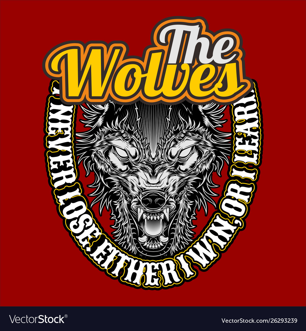 Wolves quote hand drawingshirt designs biker