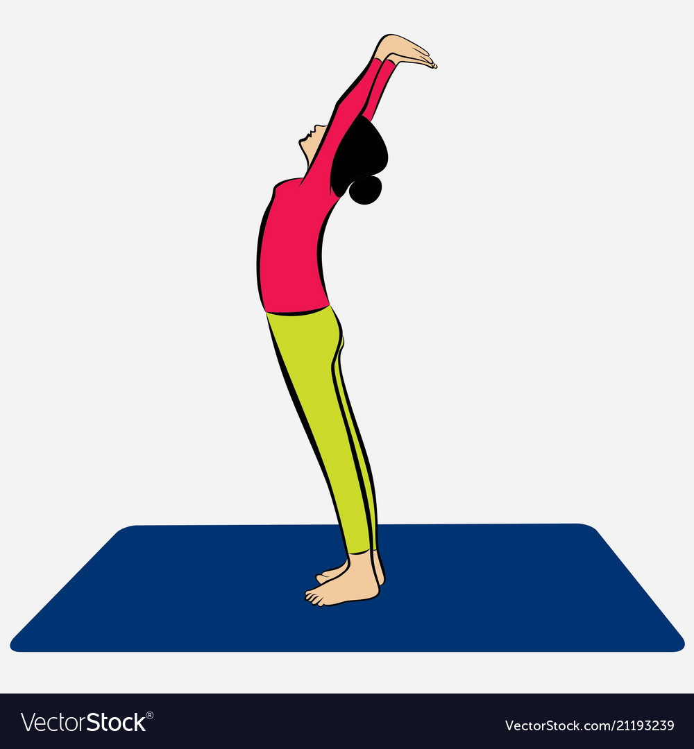 Woman doing surya namaskar
