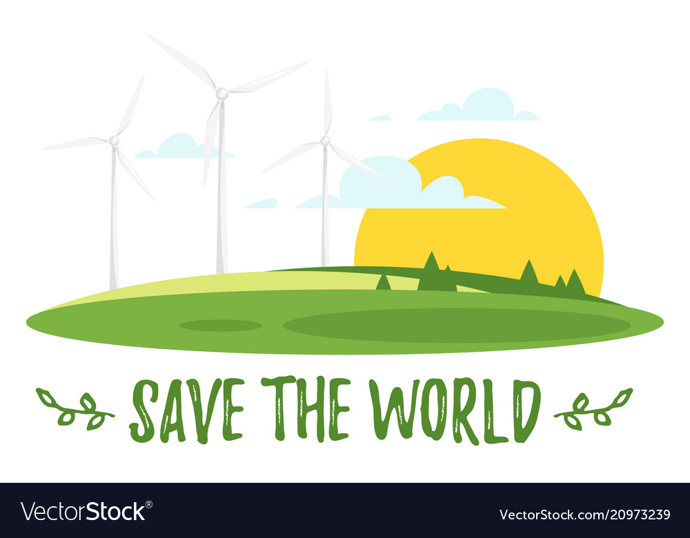 World environment day greeting card