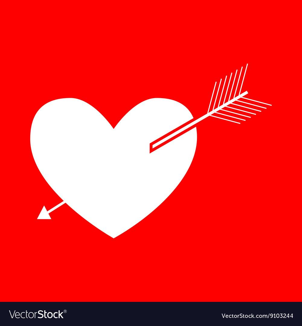 Arrow heart sign
