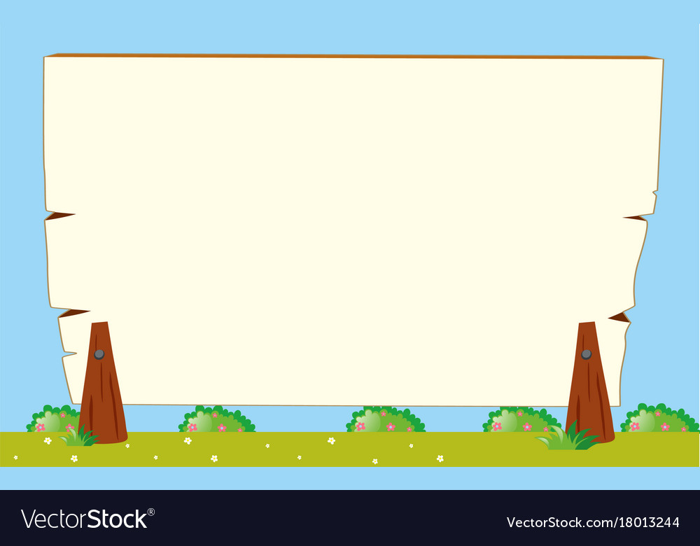Border template with garden background