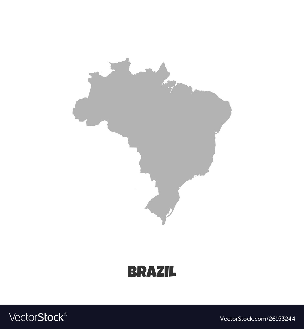 Map brazil icon isolated on white background