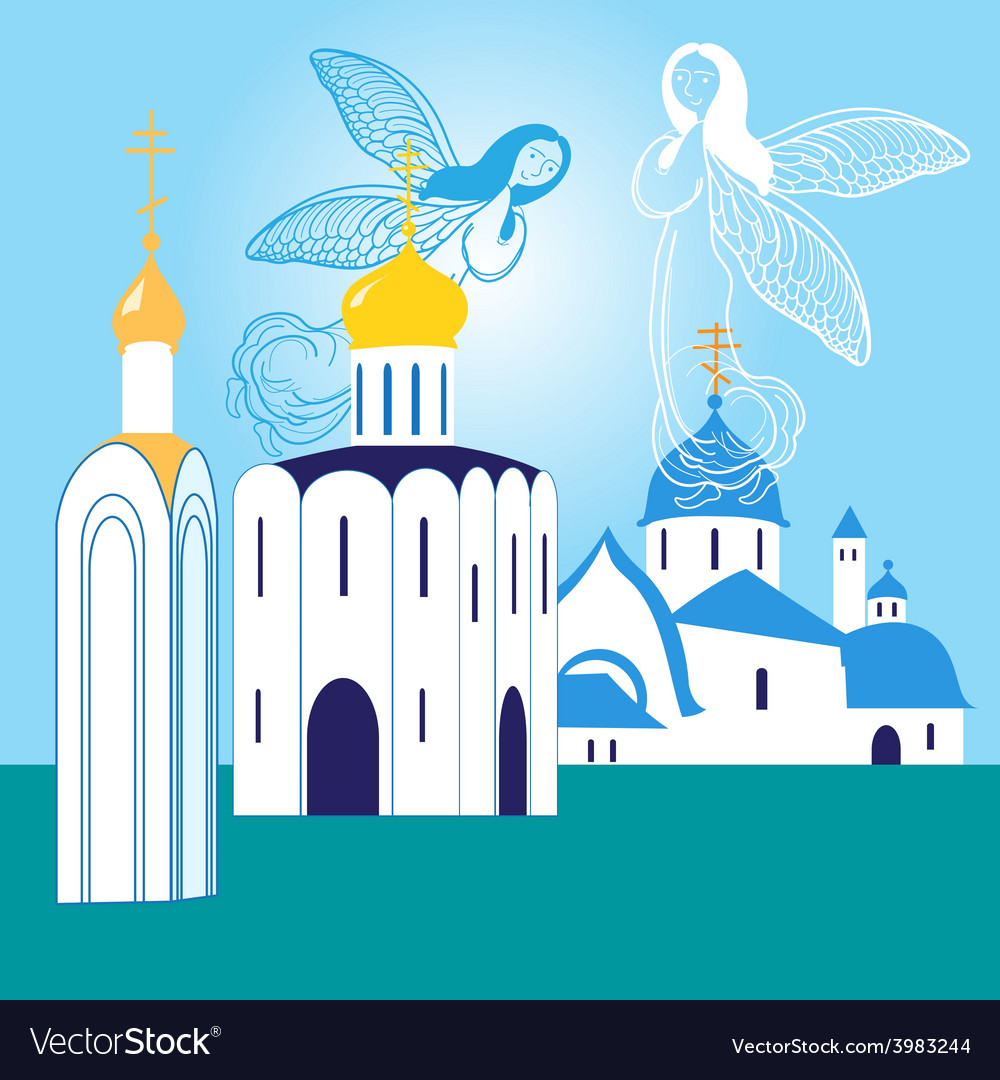 Orthodox churches vector image