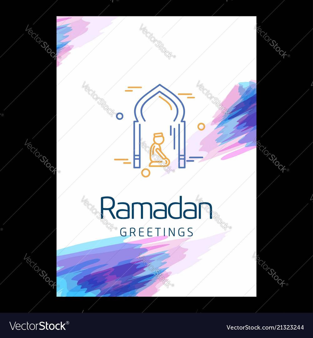 Ramadan kareem background calligraphy greeting