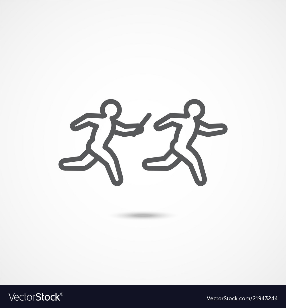Relay race icon