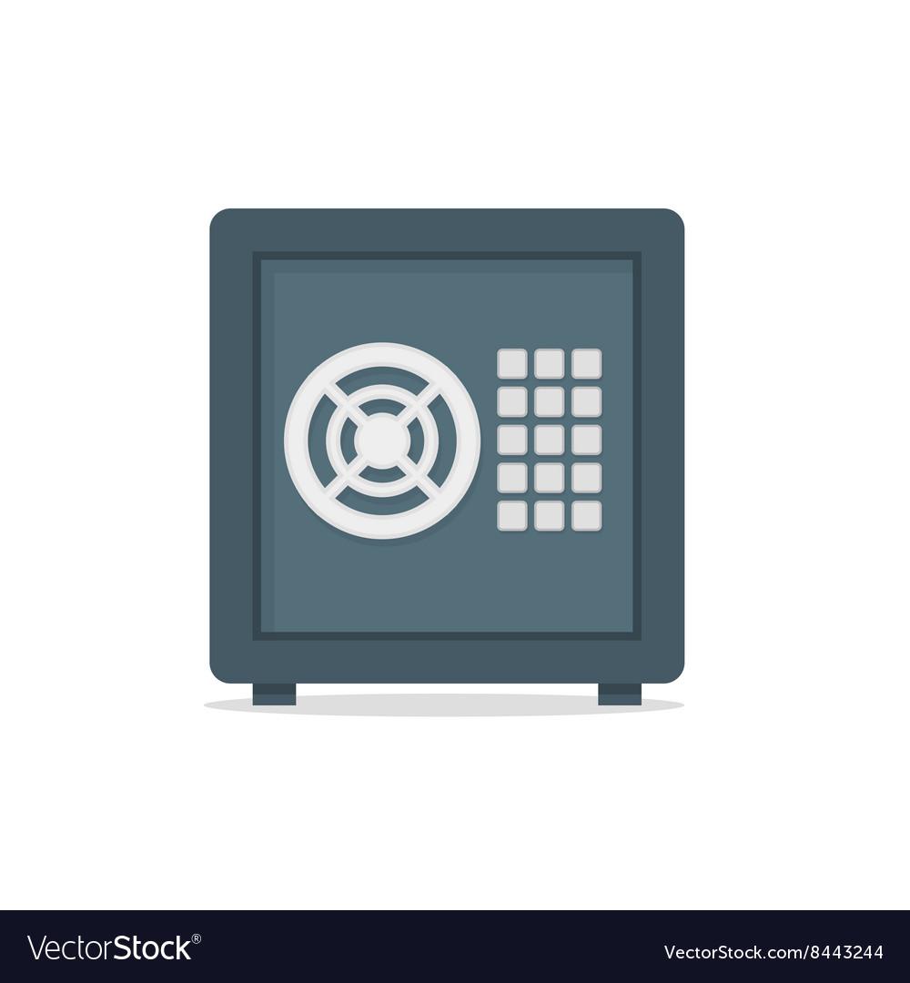 Safe metal box money secure concept symbol