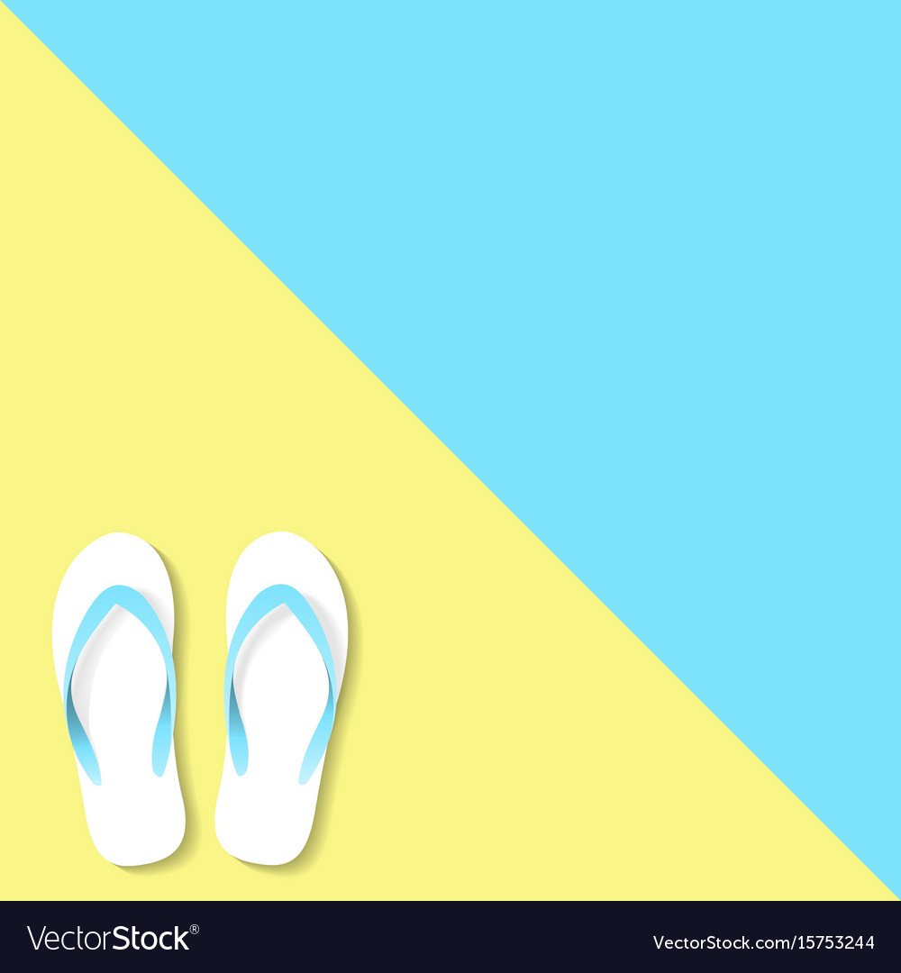 Slippers yellow blue color vector image