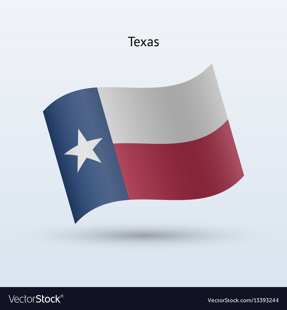 State Of Texas Flag Waving Form Royalty Free Vector Image