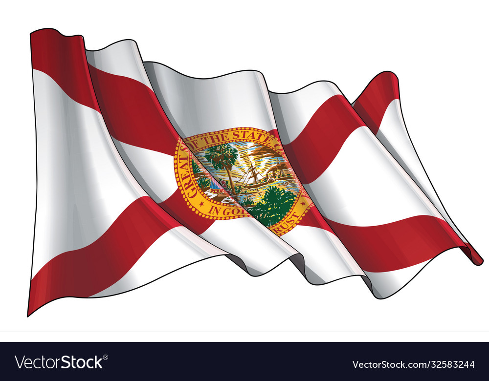 Waving flag state florida