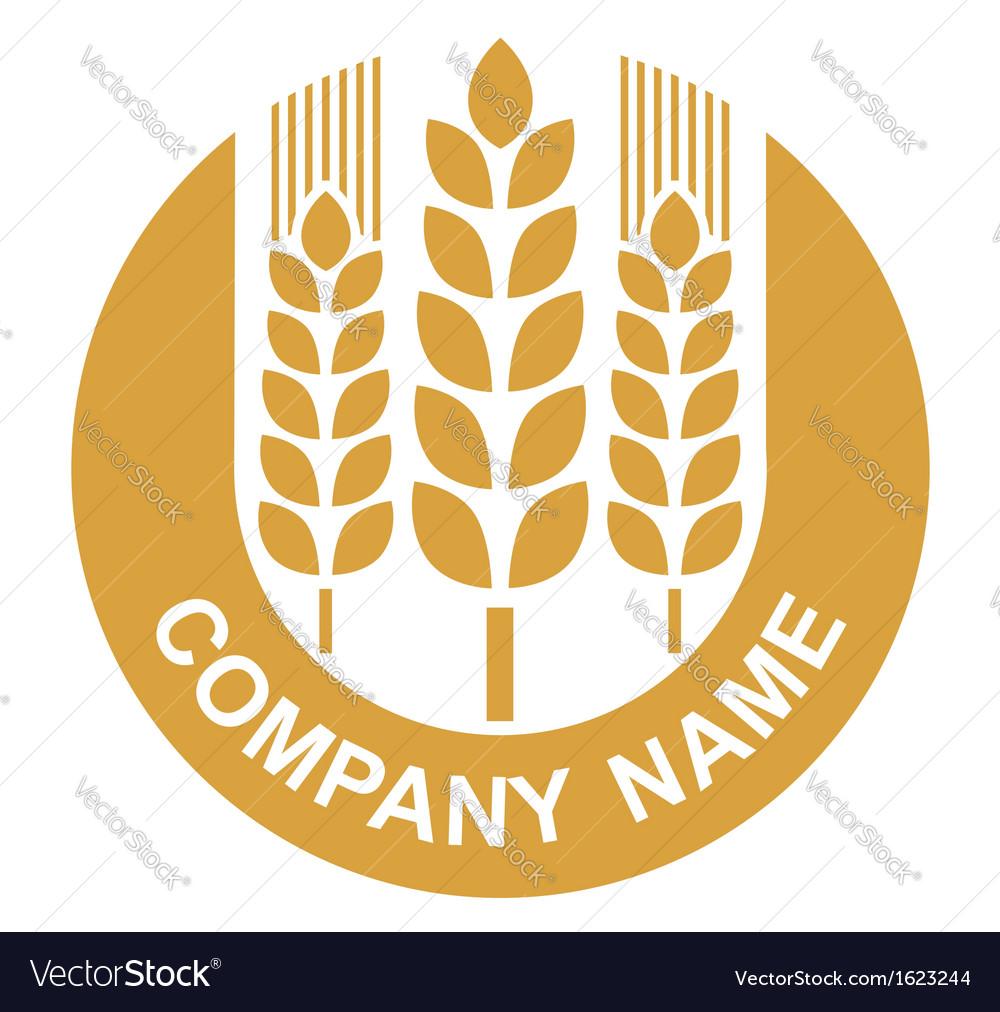 Wheat logo vector image
