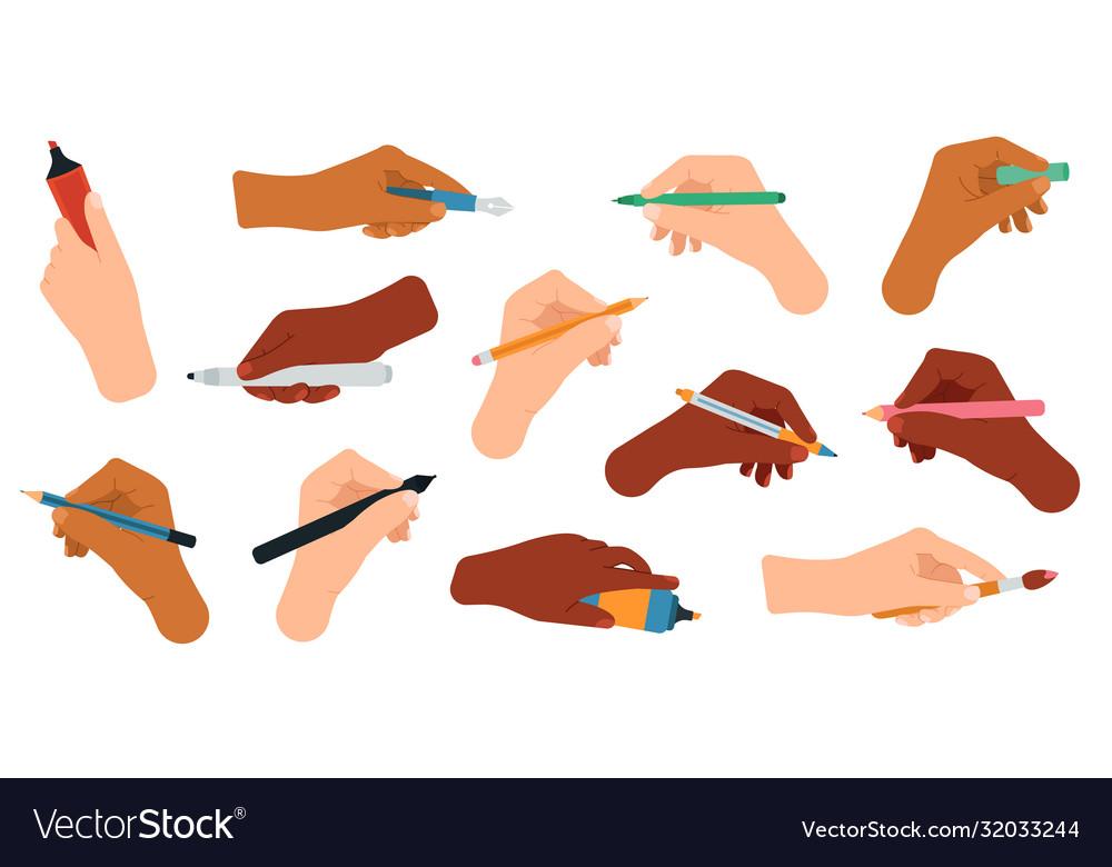 Writing tools in hand pen pencil stylus felt
