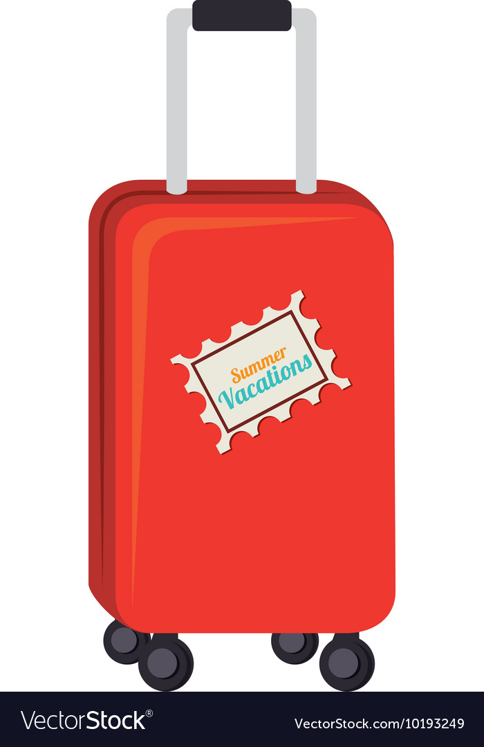 Bag Suitcase Modern Vacation Icon Graphic