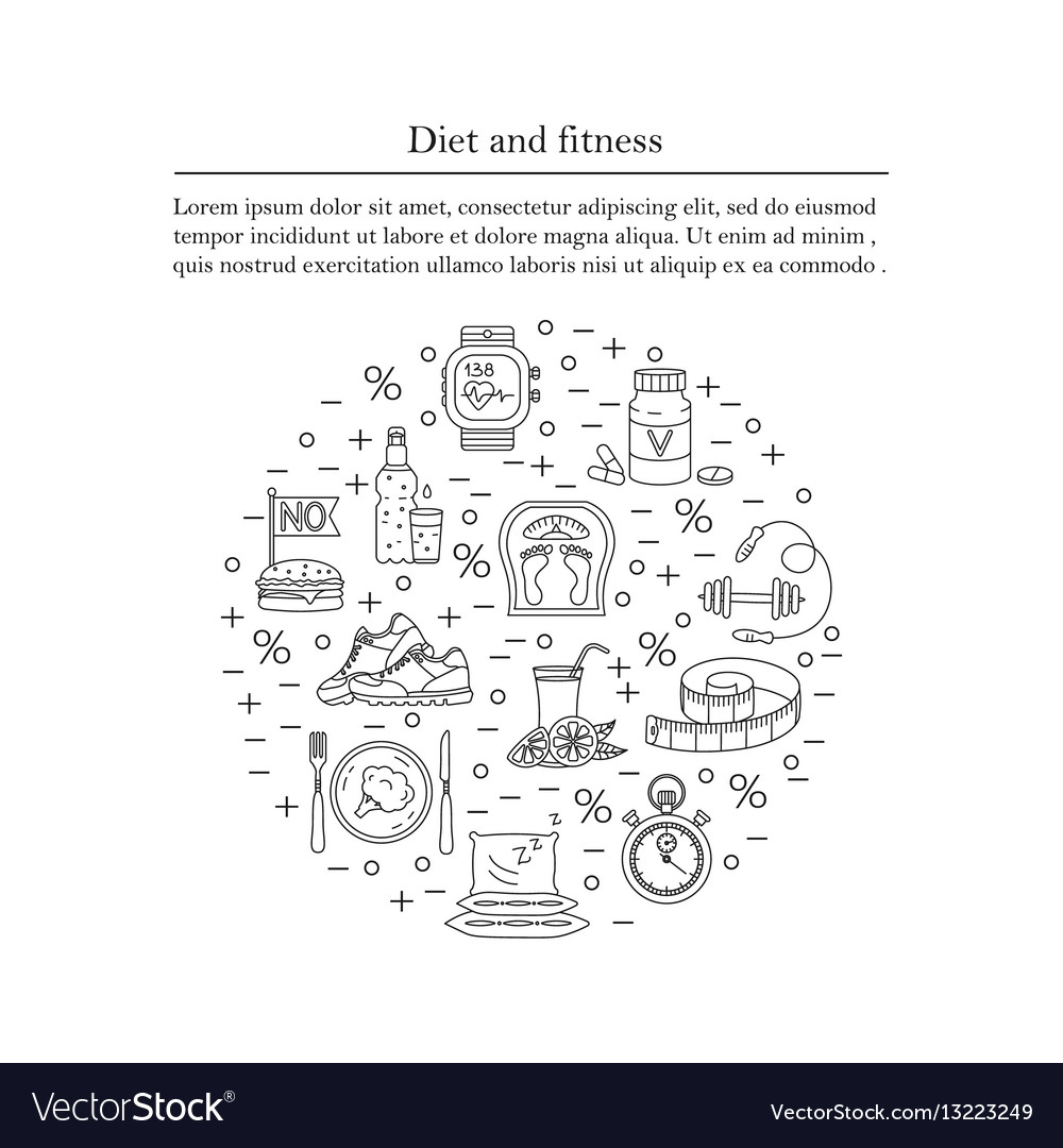 Banner Or Flyer Template Weight Loss Diet Card Vector Image