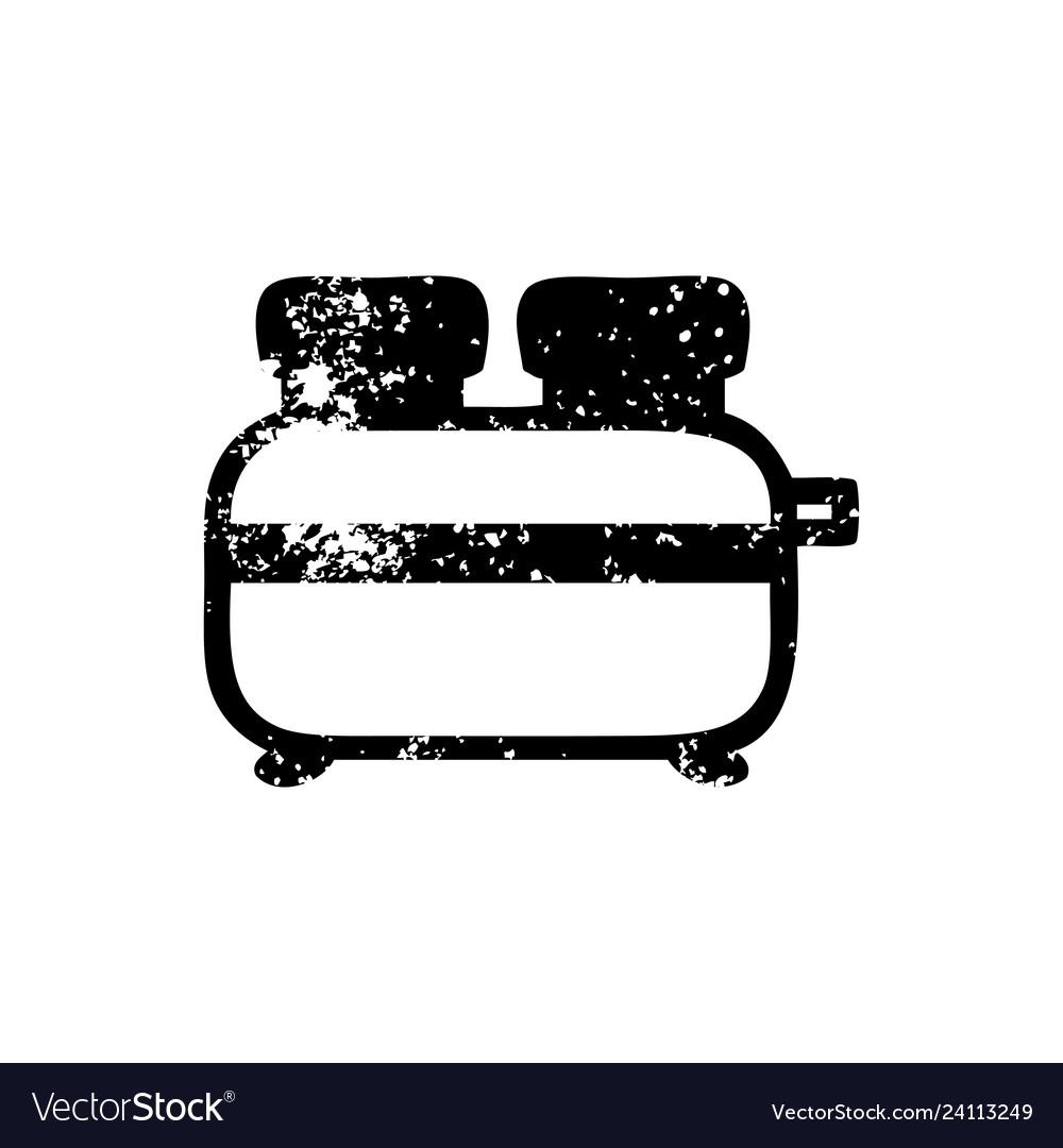 7e428e1e5d23 Burnt toast distressed icon Royalty Free Vector Image