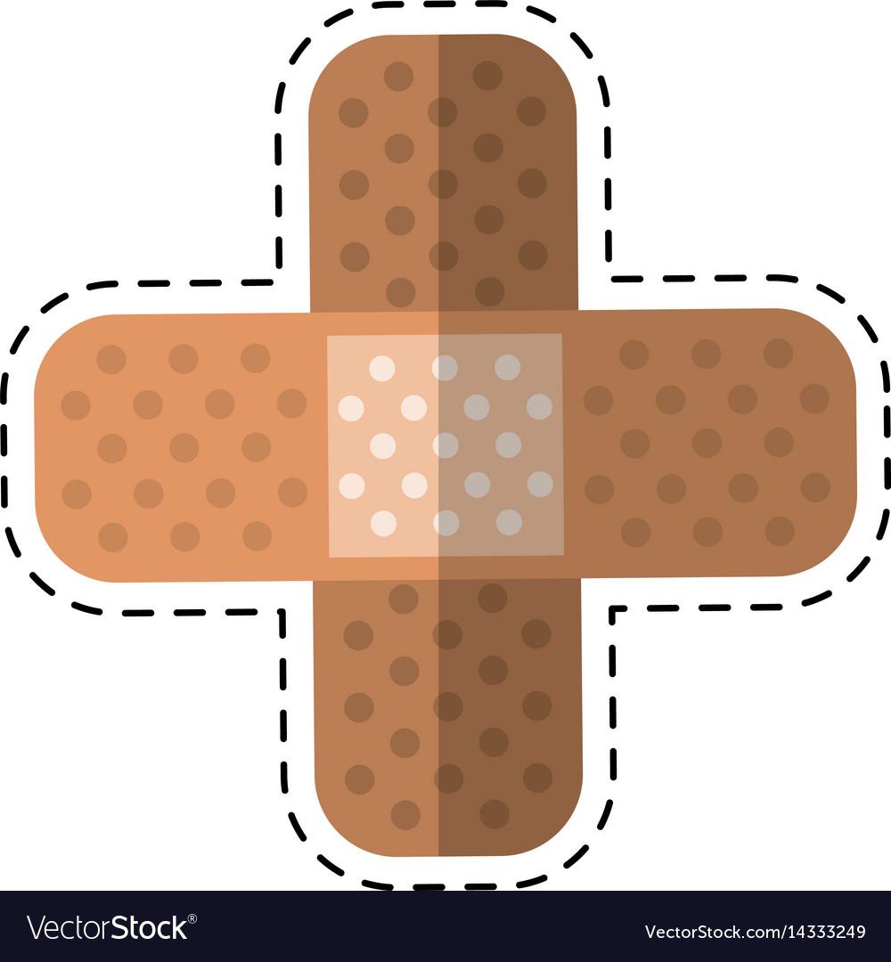 Cartoon medical plaster bandage adhesive