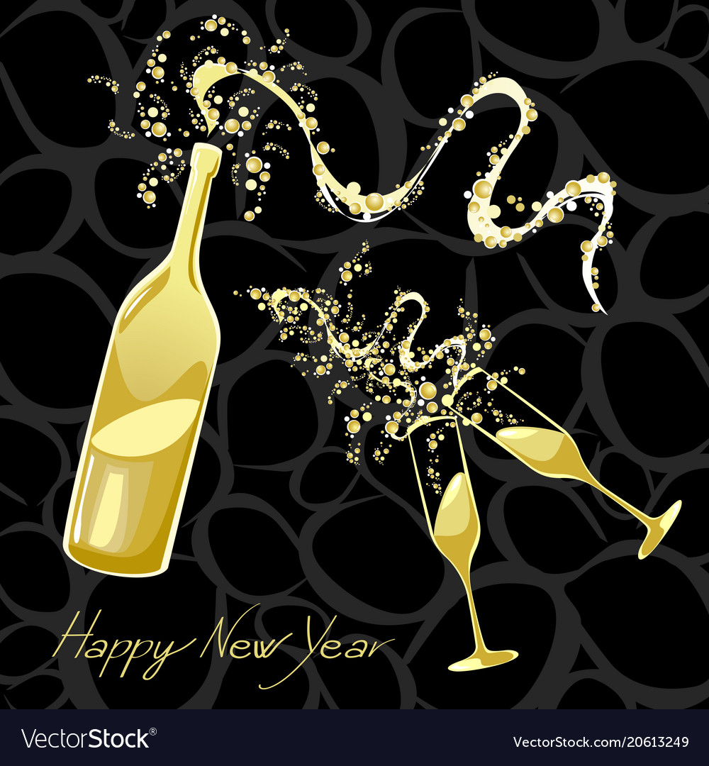 Celebrating the new year vector image