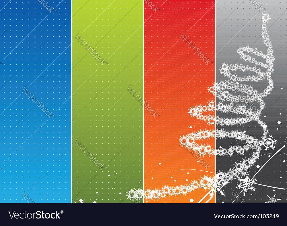 Christmas rainbow background vector image