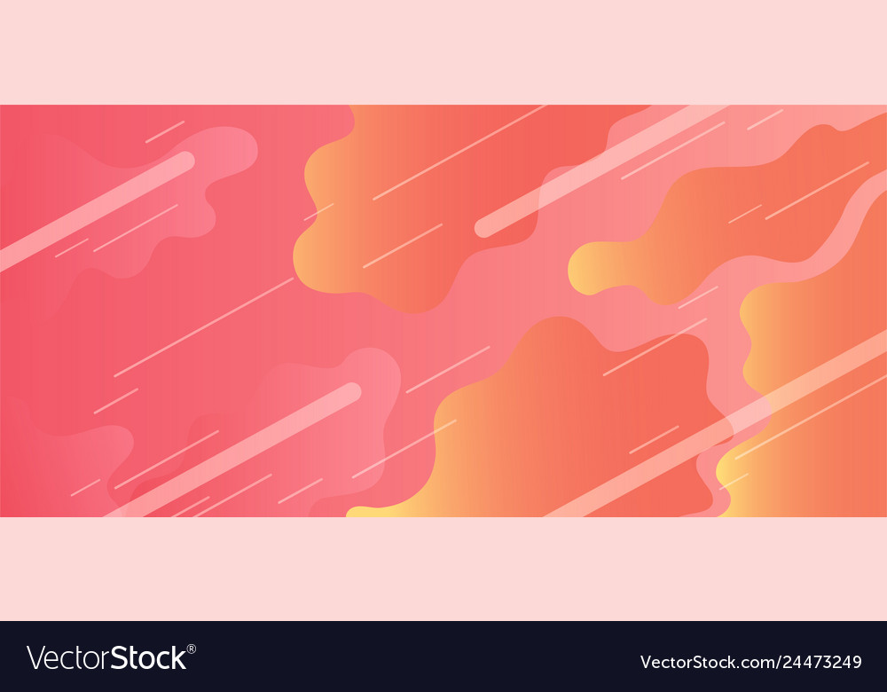 Colorful geometric background with dynamic liquid