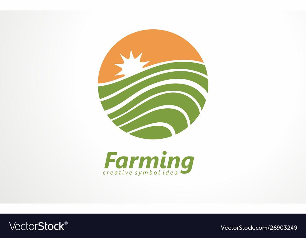 Fresh farm products logo organic