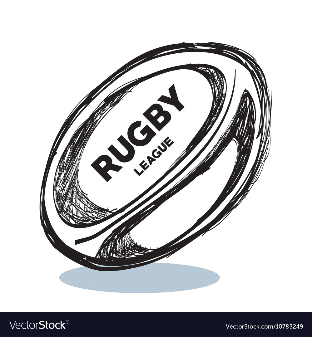 Hand drawing rugby ball design