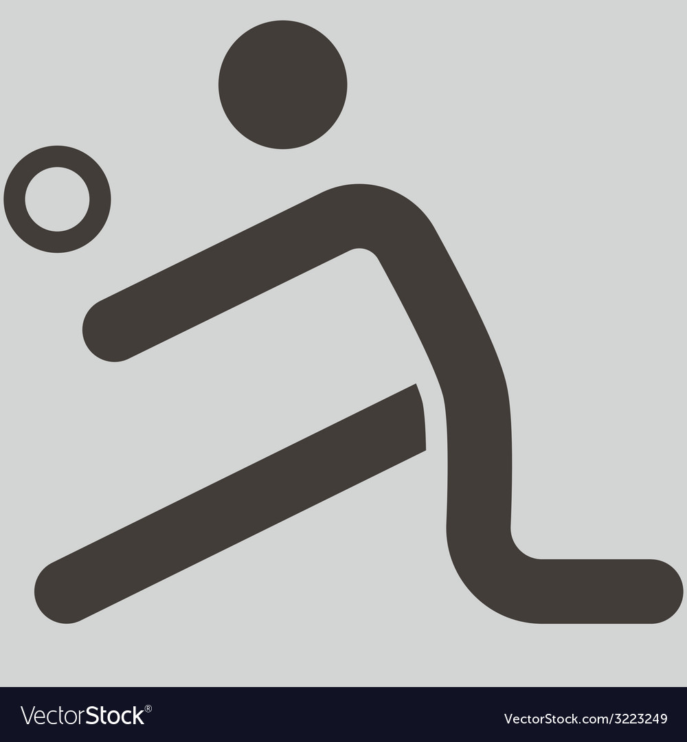Volleiball icon vector image