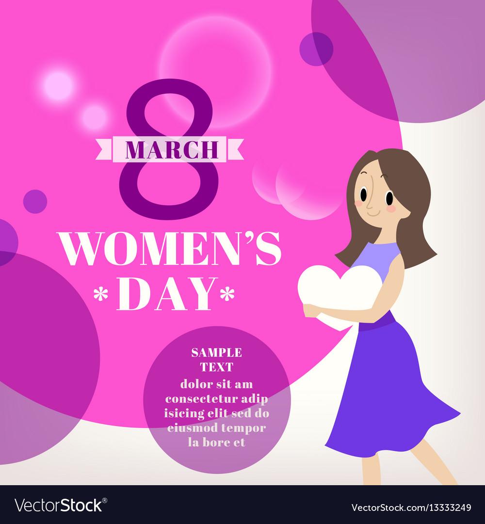Womens day celebration cartoon