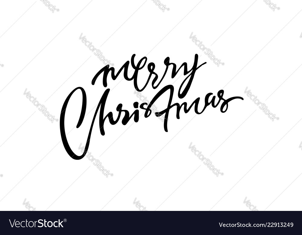 Xmas greeting card calligraphy lettering