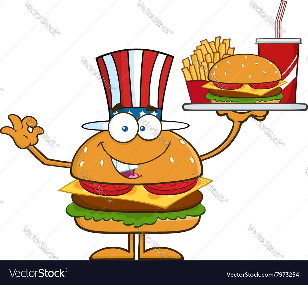 American Hamburger Cartoon
