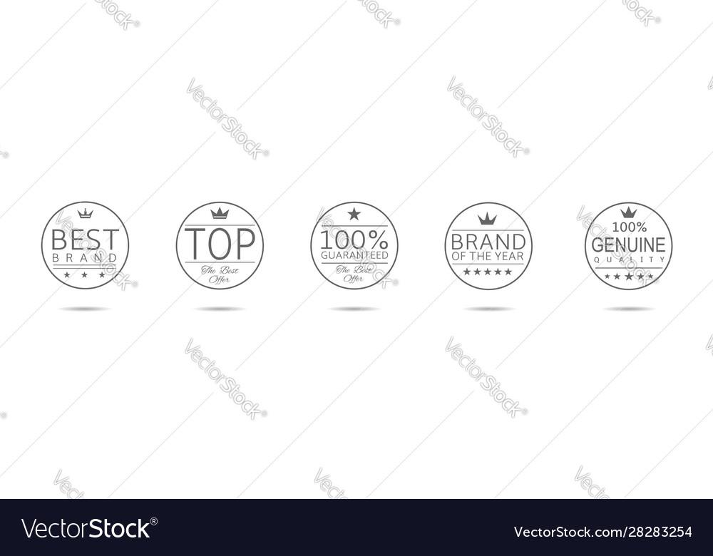 Award badge set