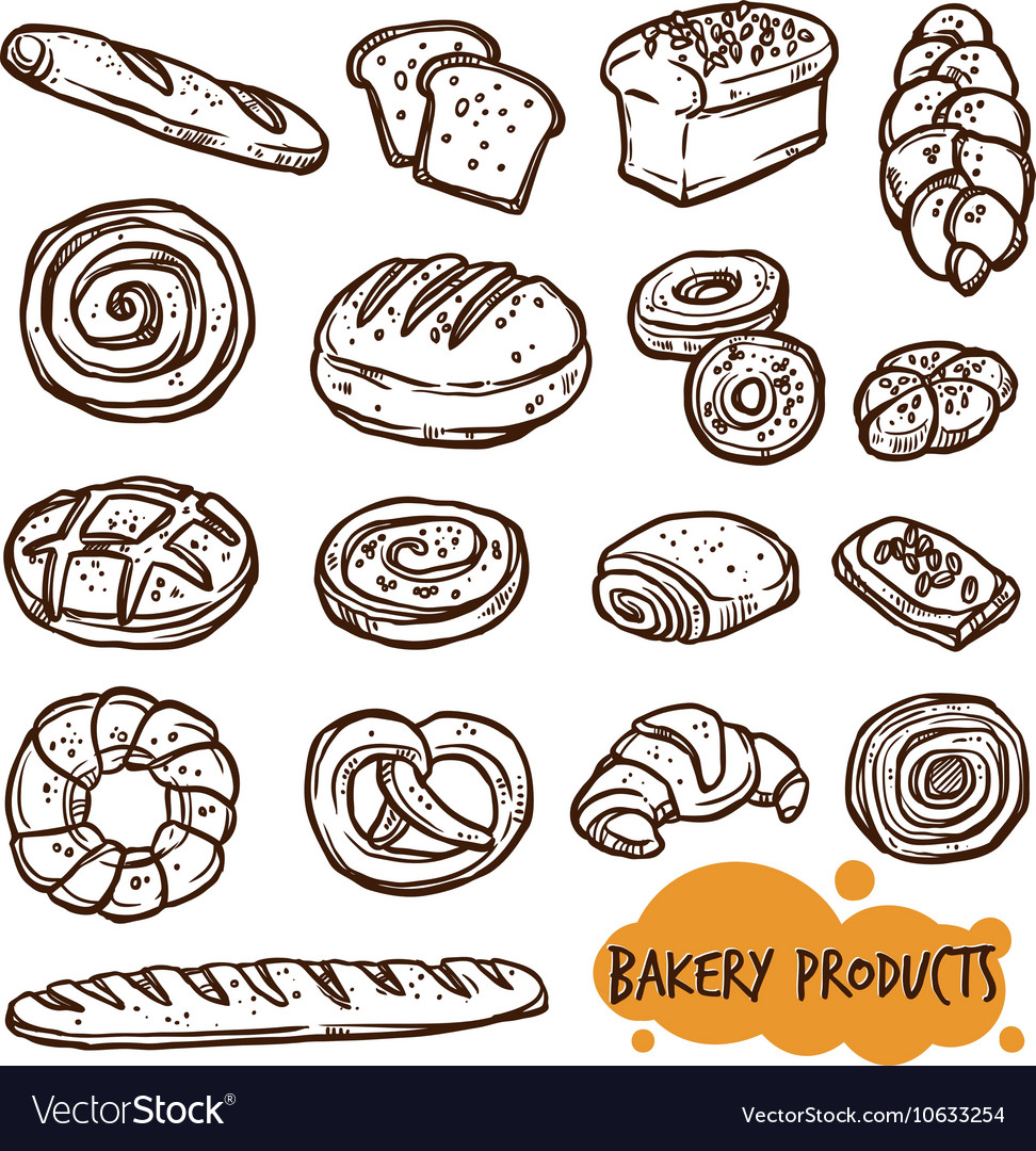Bakery Products Sketch Set