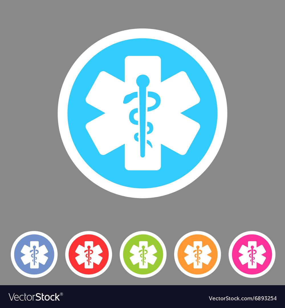 Blue medical icon flat web sign symbol logo label