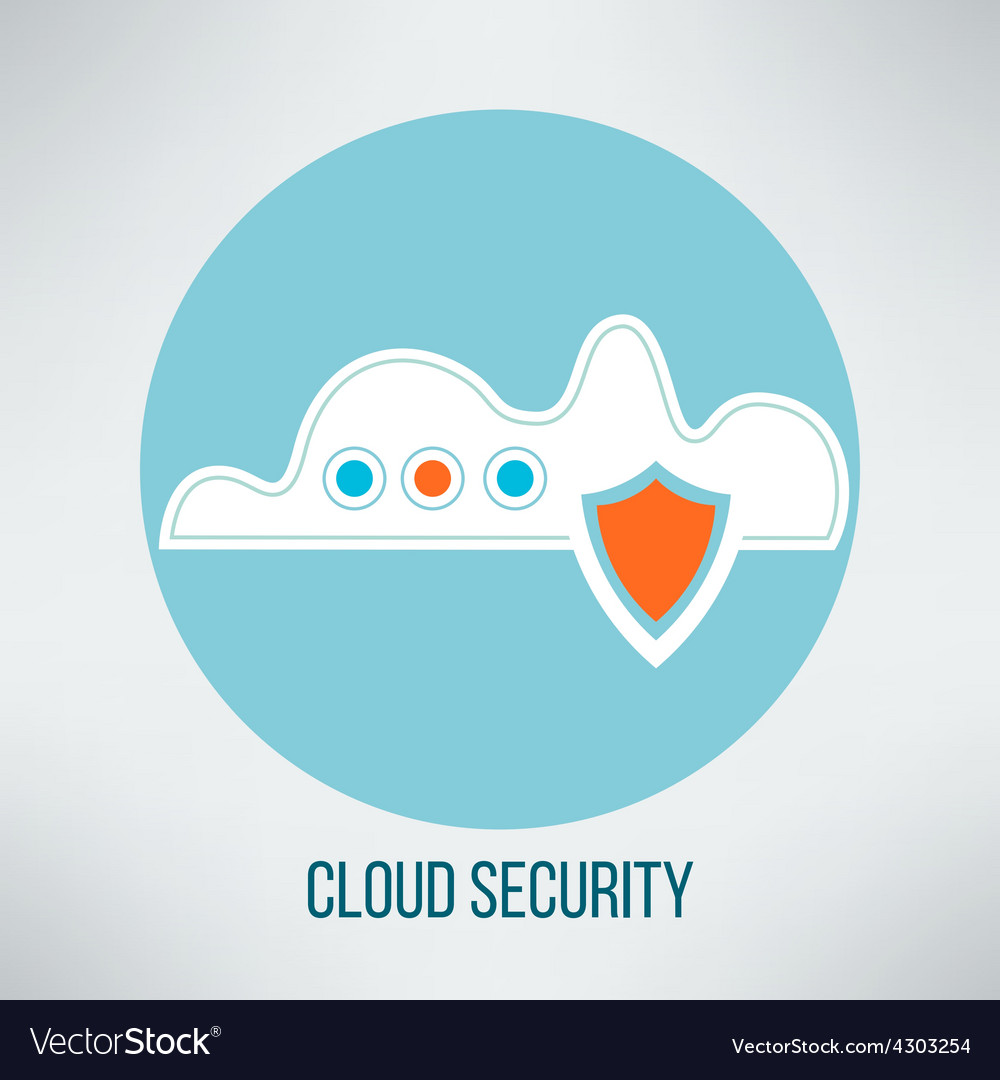 Cloud computing security icon Data protection