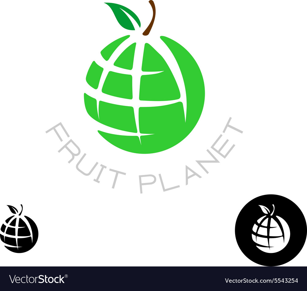 Earth apple globe logo