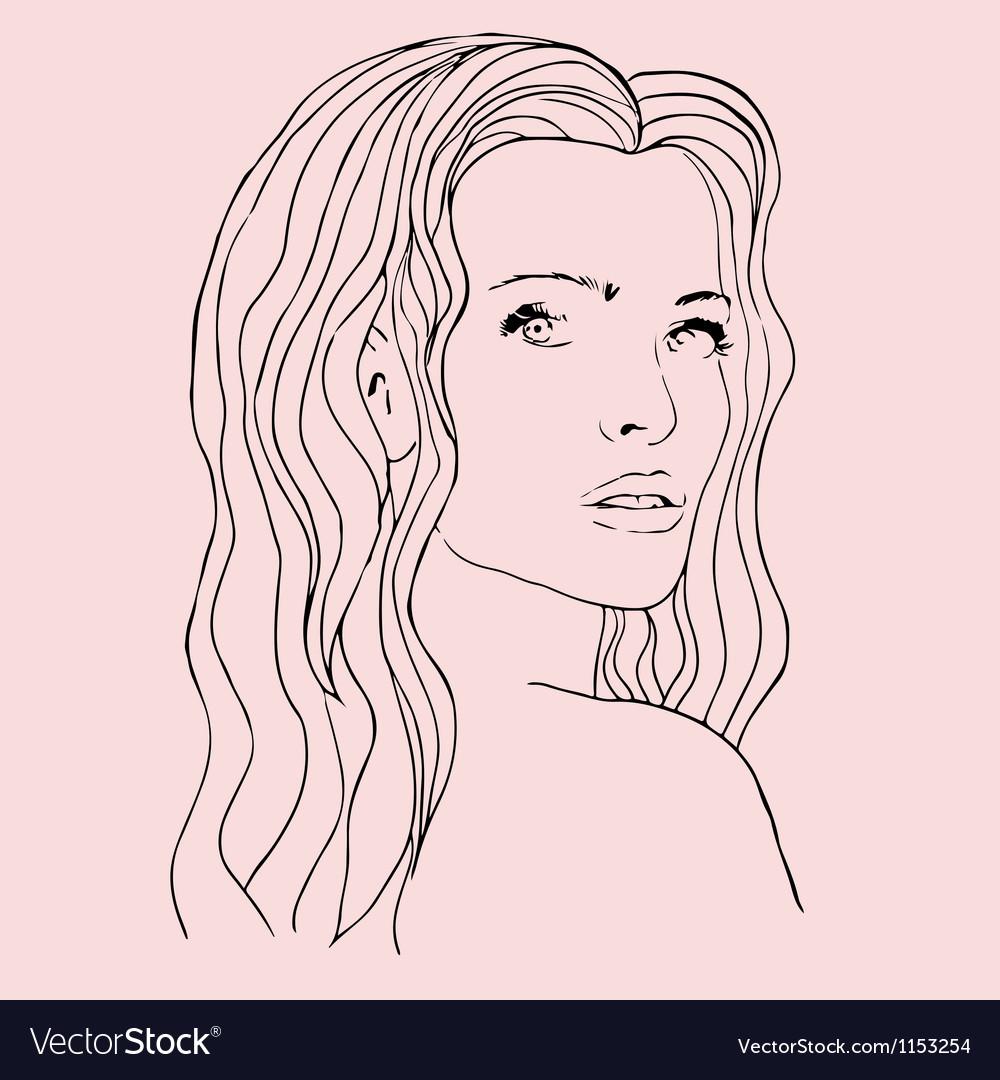 Fashion beautiful woman with long wavy hair