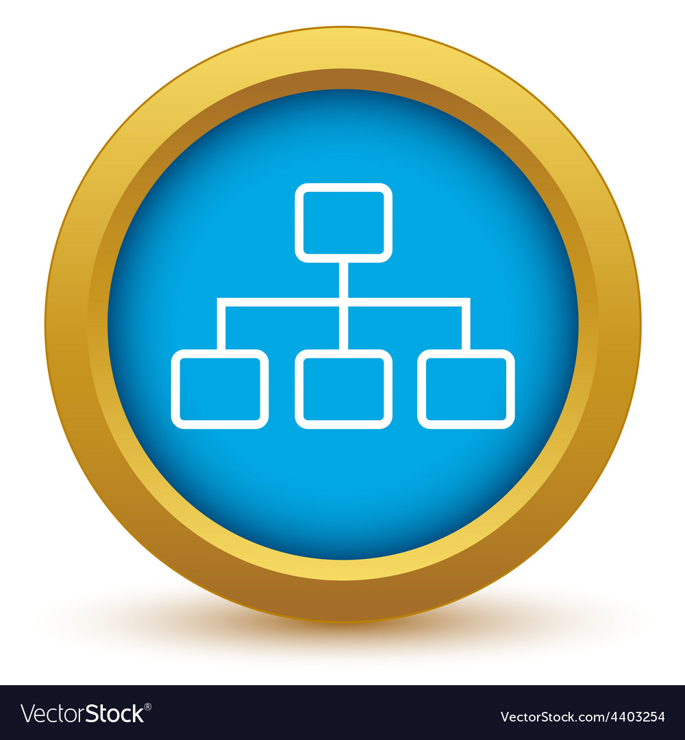Gold structure icon vector image