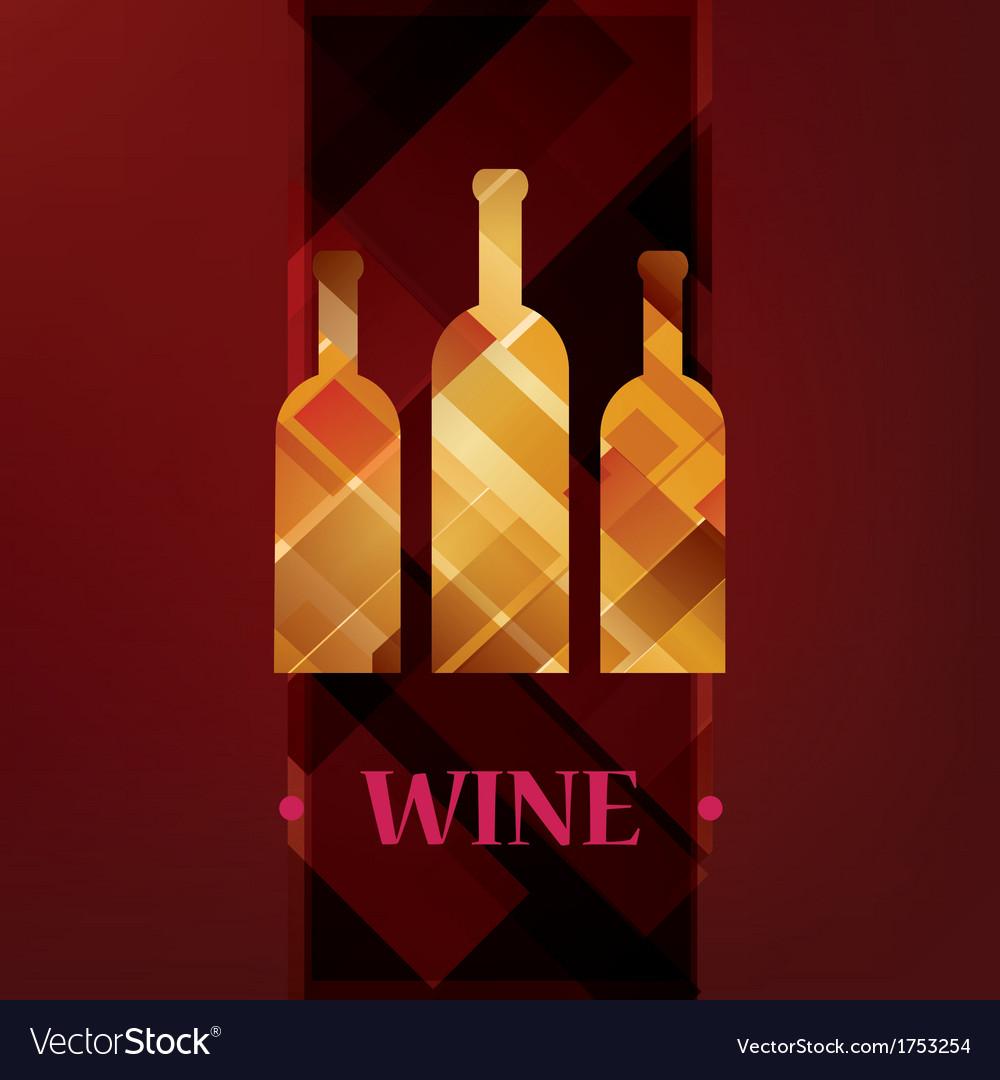 Wine menu card stylized background