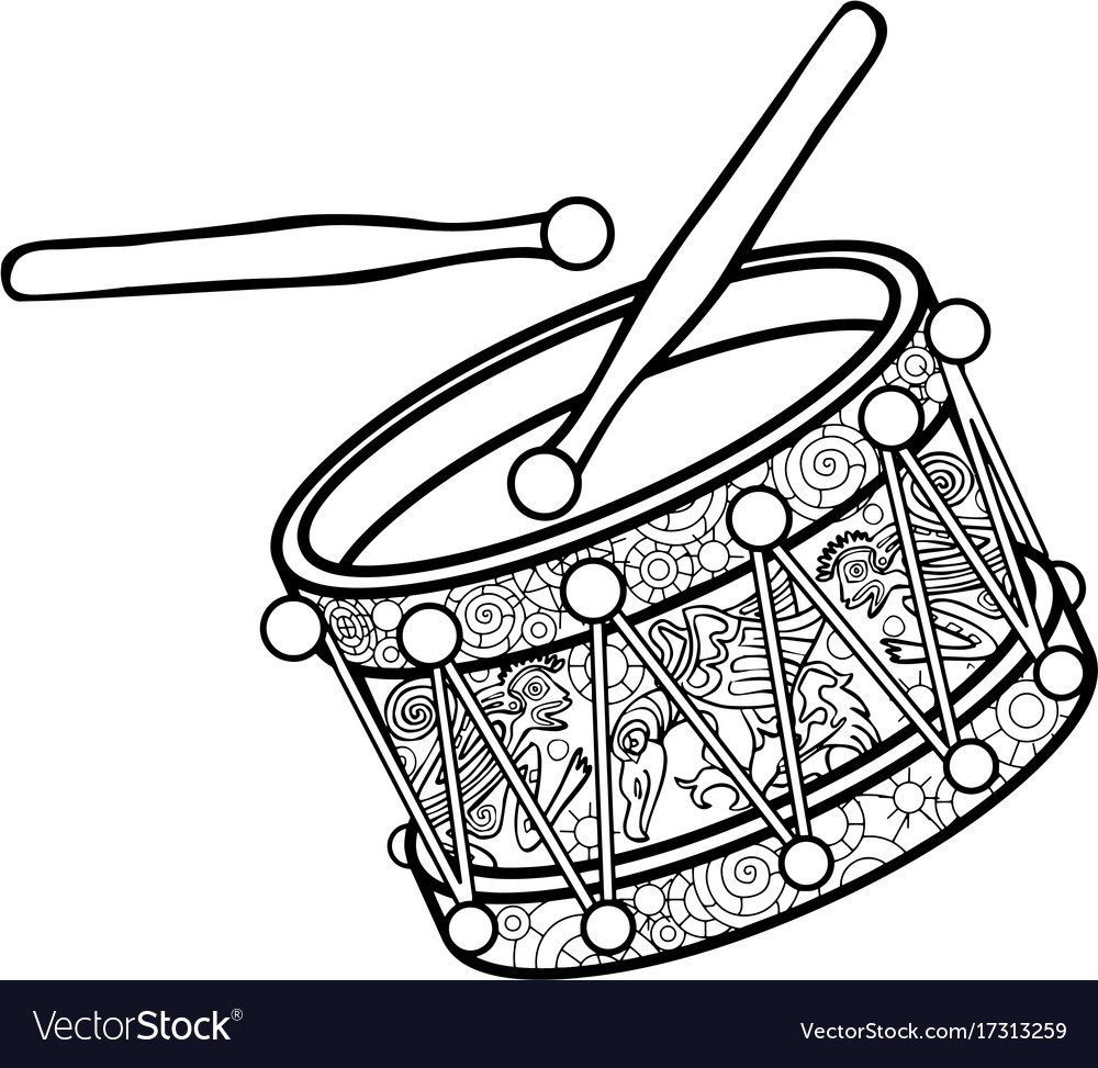 Black and white vector image