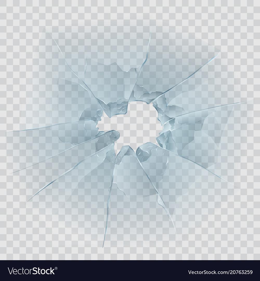 Broken window glass vector image