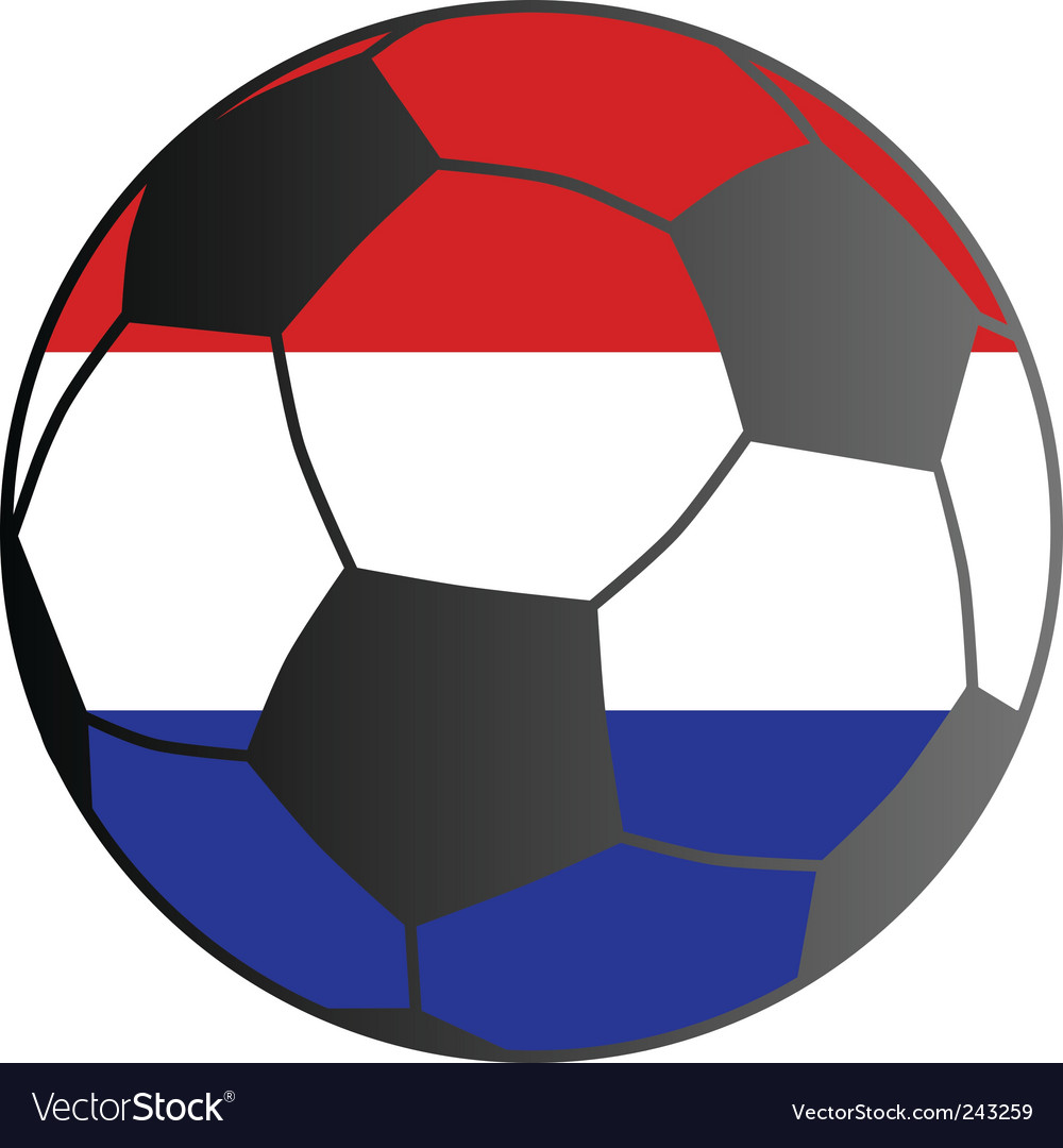Flag of the Netherlands and soccer ball