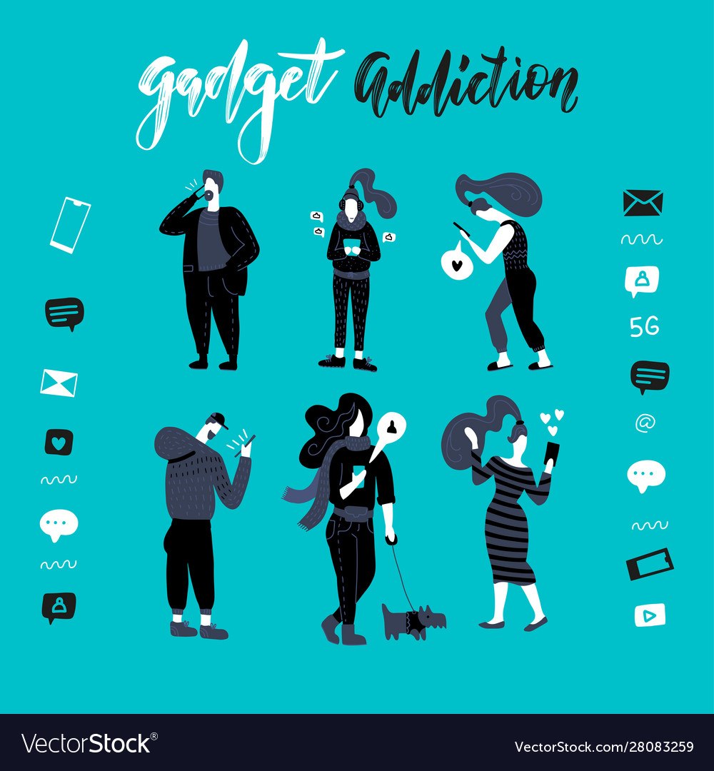 Gadgets smartphone addiction black
