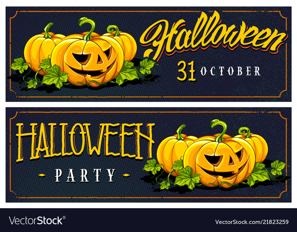 Halloween web banners designs