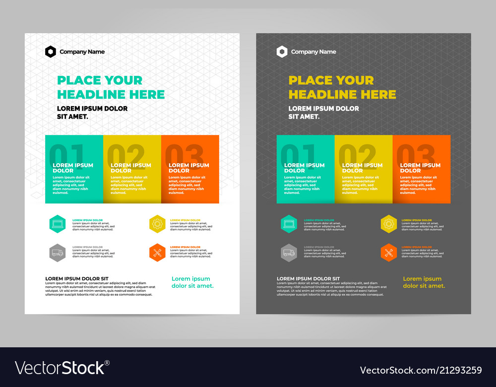 Infographic brochure layout template design