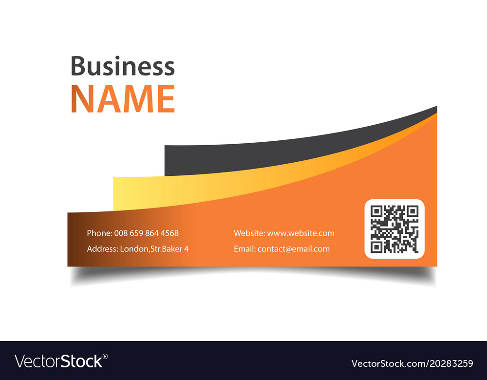 Modern business card orange background imag vector image colourmoves