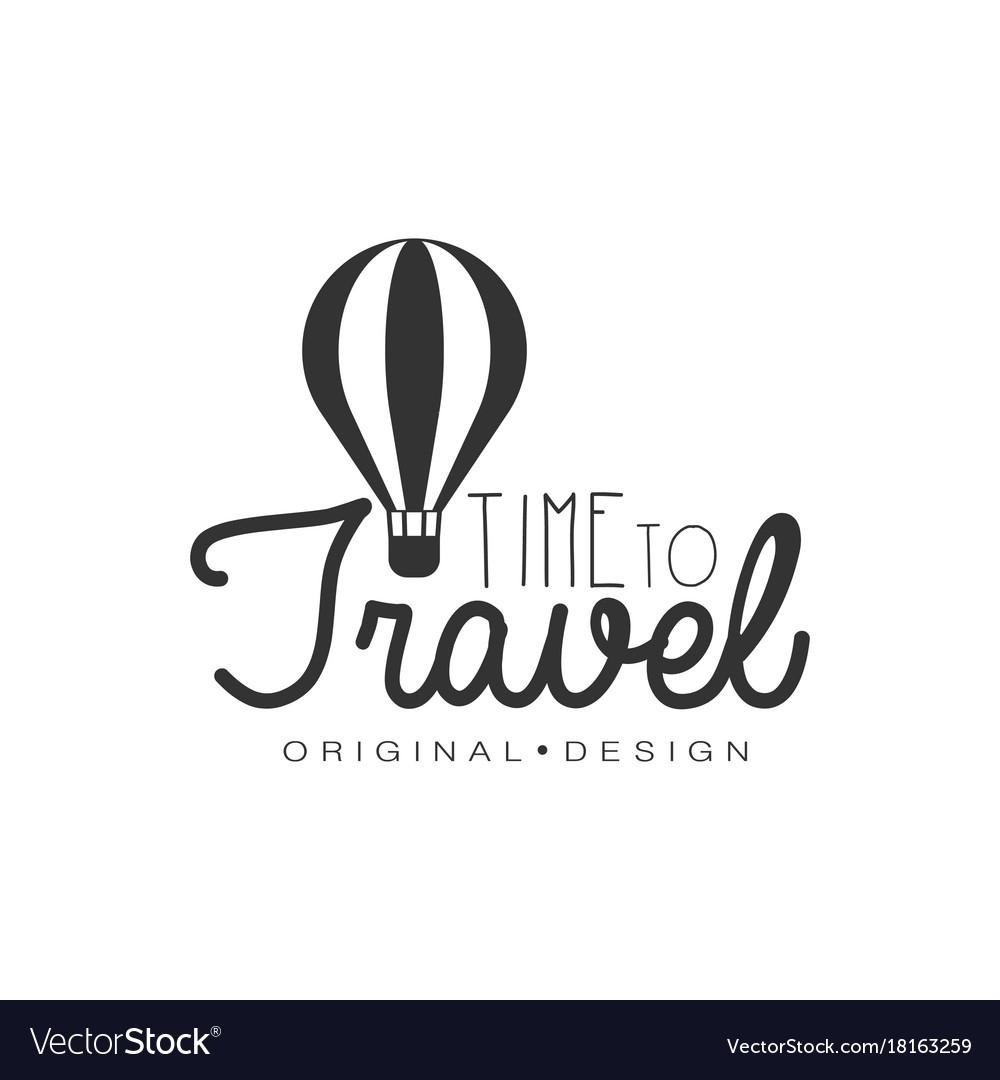 Travel logo design with air balloon
