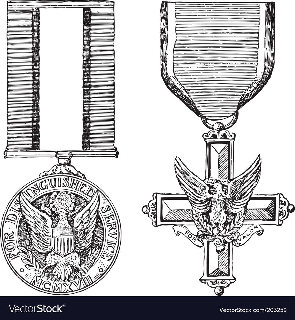 Vintage military medals