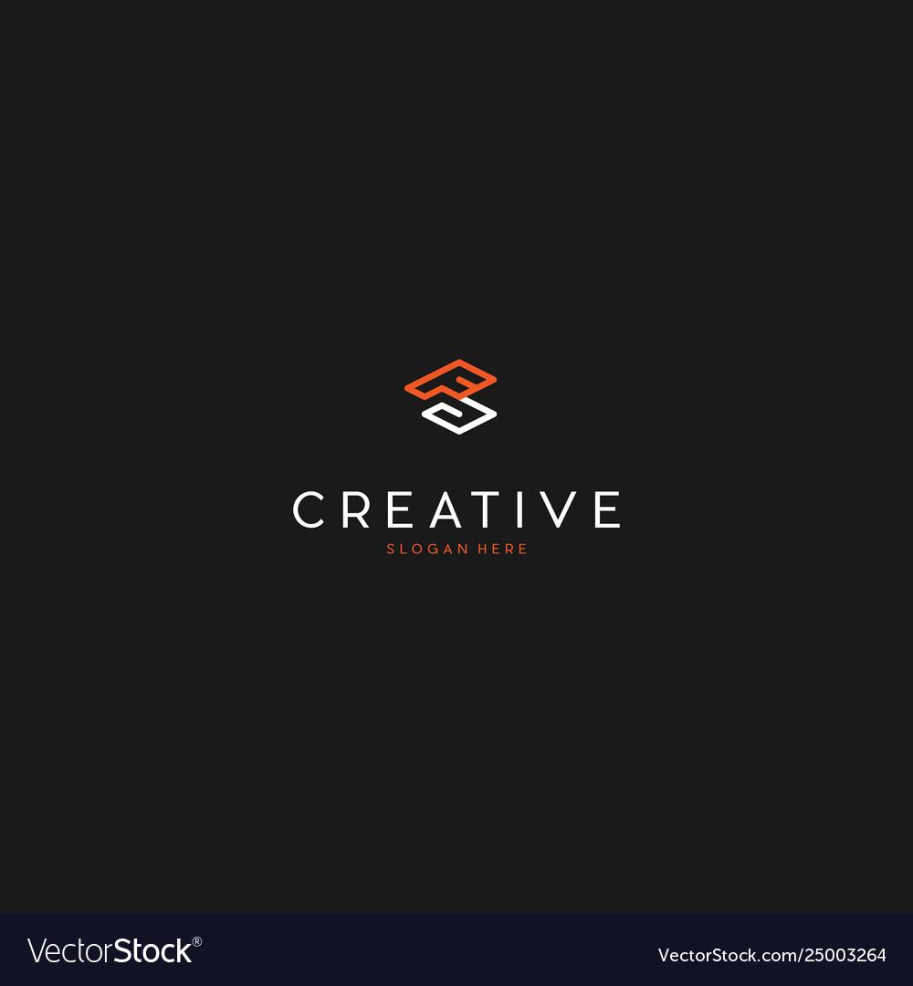 Letter fg creative business logo design graphic