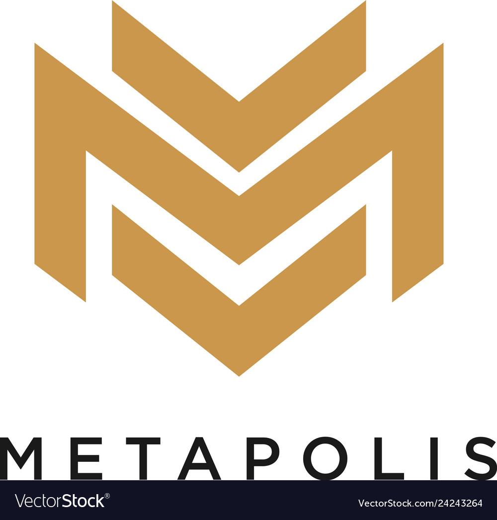 M logo concept creative minimal design template
